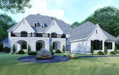 5 Bed, 4 Bath, 5615 Square Foot House Plan - #8318-00132