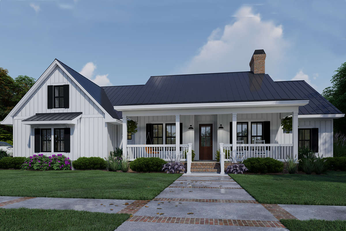 House Plan 9401-00105 - Modern Farmhouse Plan: 2,192 Square Feet, 3-4 Bedrooms, 3 Bathrooms