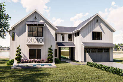 4 Bed, 2 Bath, 2391 Square Foot House Plan - #963-00359