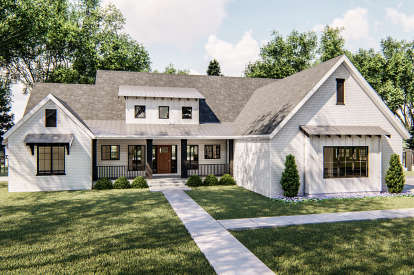 3 Bed, 3 Bath, 2400 Square Foot House Plan - #963-00361