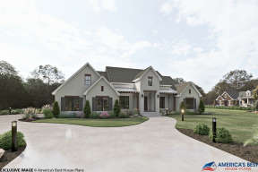 Modern Farmhouse House Plan #041-00201 Elevation Photo