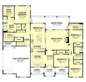 Main Floor for House Plan #041-00201