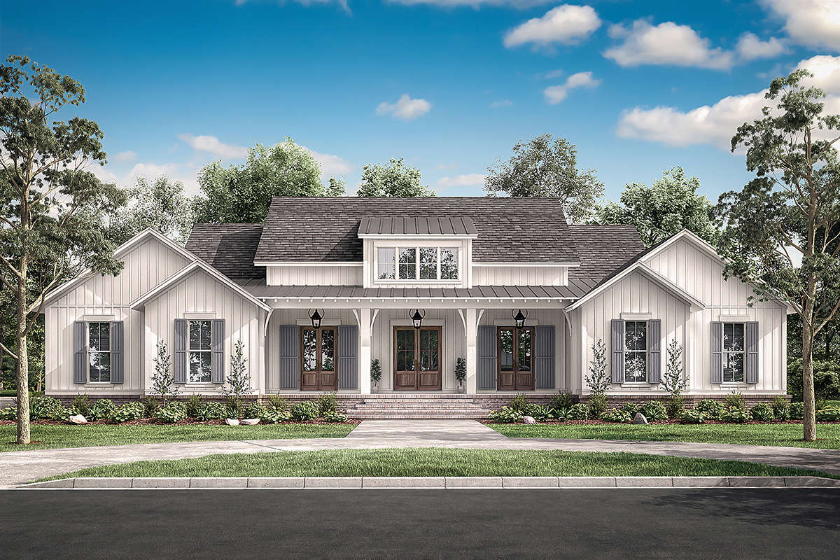 Modern Farmhouse Plan: 3,076 Square Feet, 4 Bedrooms, 3.5 ...