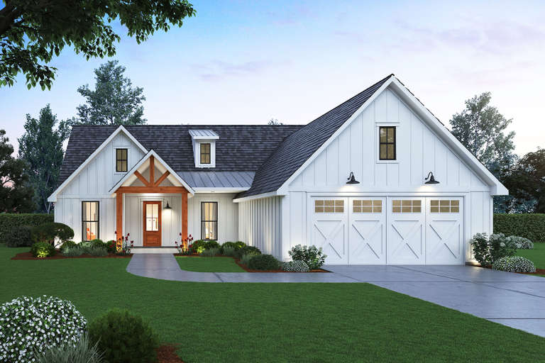 Modern Farmhouse House Plan #4534-00018 Elevation Photo