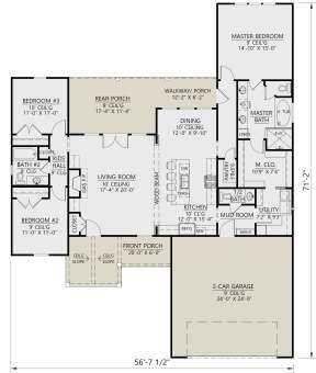 Main Floor for House Plan #4534-00018
