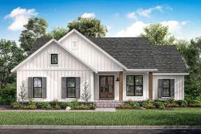 Modern Farmhouse House Plan #041-00203 Elevation Photo