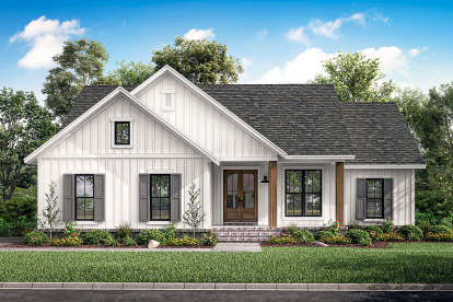 3 Bed, 2 Bath, 1398 Square Foot House Plan #041-00203