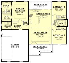 Main Floor for House Plan #041-00203