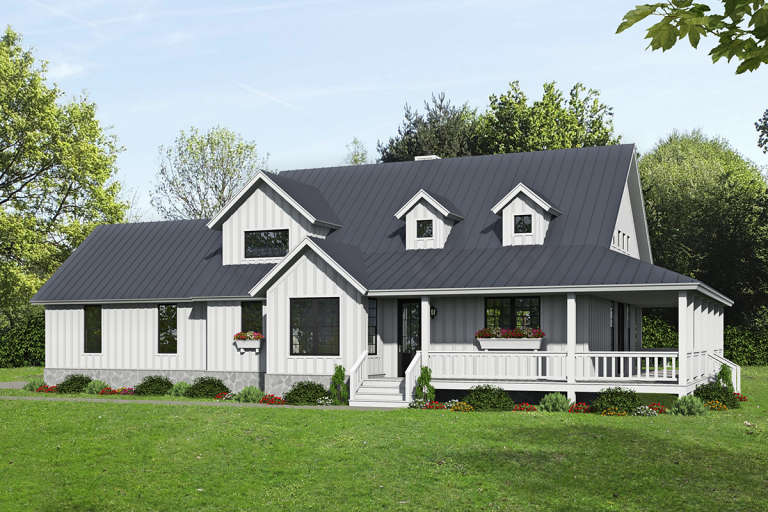 Farmhouse House Plan #940-00195 Elevation Photo