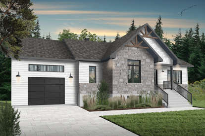 2 Bed, 1 Bath, 1344 Square Foot House Plan - #034-01231