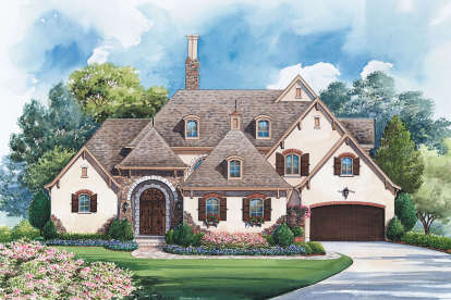4 Bed, 4 Bath, 4005 Square Foot House Plan - #402-01616