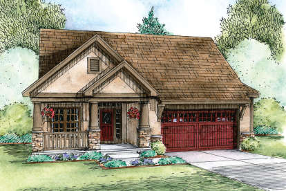 2 Bed, 2 Bath, 1596 Square Foot House Plan - #402-01617