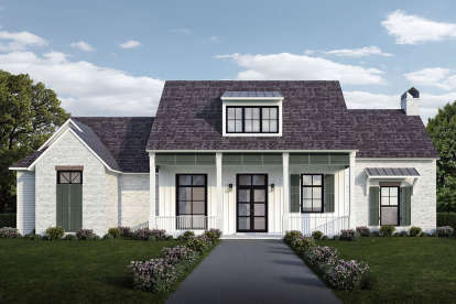 4 Bed, 3 Bath, 2408 Square Foot House Plan - #7516-00043