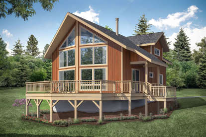 2 Bed, 2 Bath, 1509 Square Foot House Plan - #035-00848