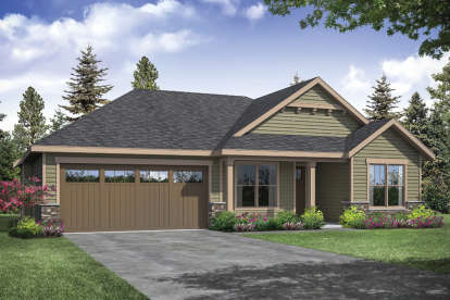 3 Bed, 2 Bath, 1610 Square Foot House Plan #035-00852