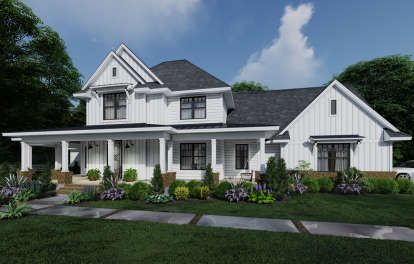 4 Bed, 3 Bath, 2829 Square Foot House Plan #9401-00106