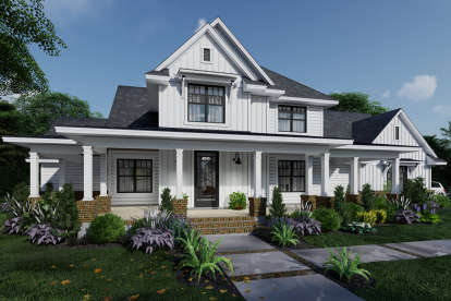 4 Bed, 3 Bath, 2829 Square Foot House Plan - #9401-00106