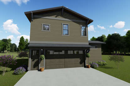 1 Bed, 1 Bath, 681 Square Foot House Plan - #425-00024