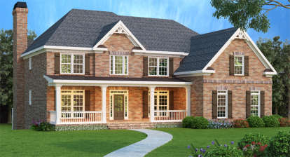 5 Bed, 4 Bath, 3919 Square Foot House Plan - #009-00008
