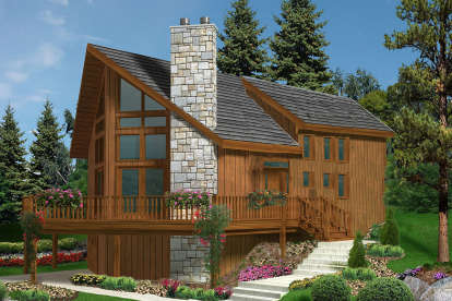 3 Bed, 2 Bath, 1721 Square Foot House Plan - #033-00132