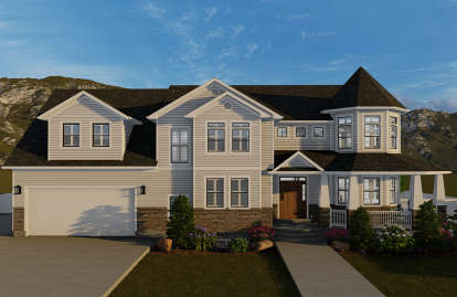 4 Bed, 3 Bath, 2898 Square Foot House Plan #2802-00048