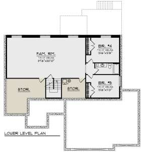 Basement for House Plan #1020-00343