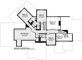 Second Floor for House Plan #1020-00355