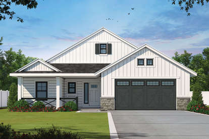 3 Bed, 2 Bath, 1619 Square Foot House Plan - #402-01619