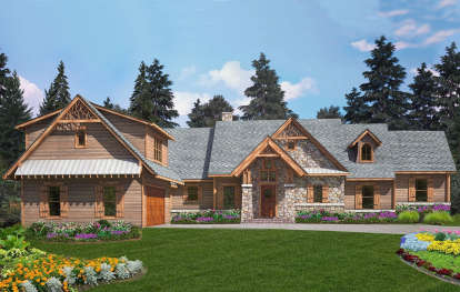 4 Bed, 3 Bath, 2993 Square Foot House Plan - #699-00259