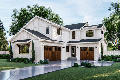 4 Bed, 2 Bath, 2417 Square Foot House Plan - #963-00378