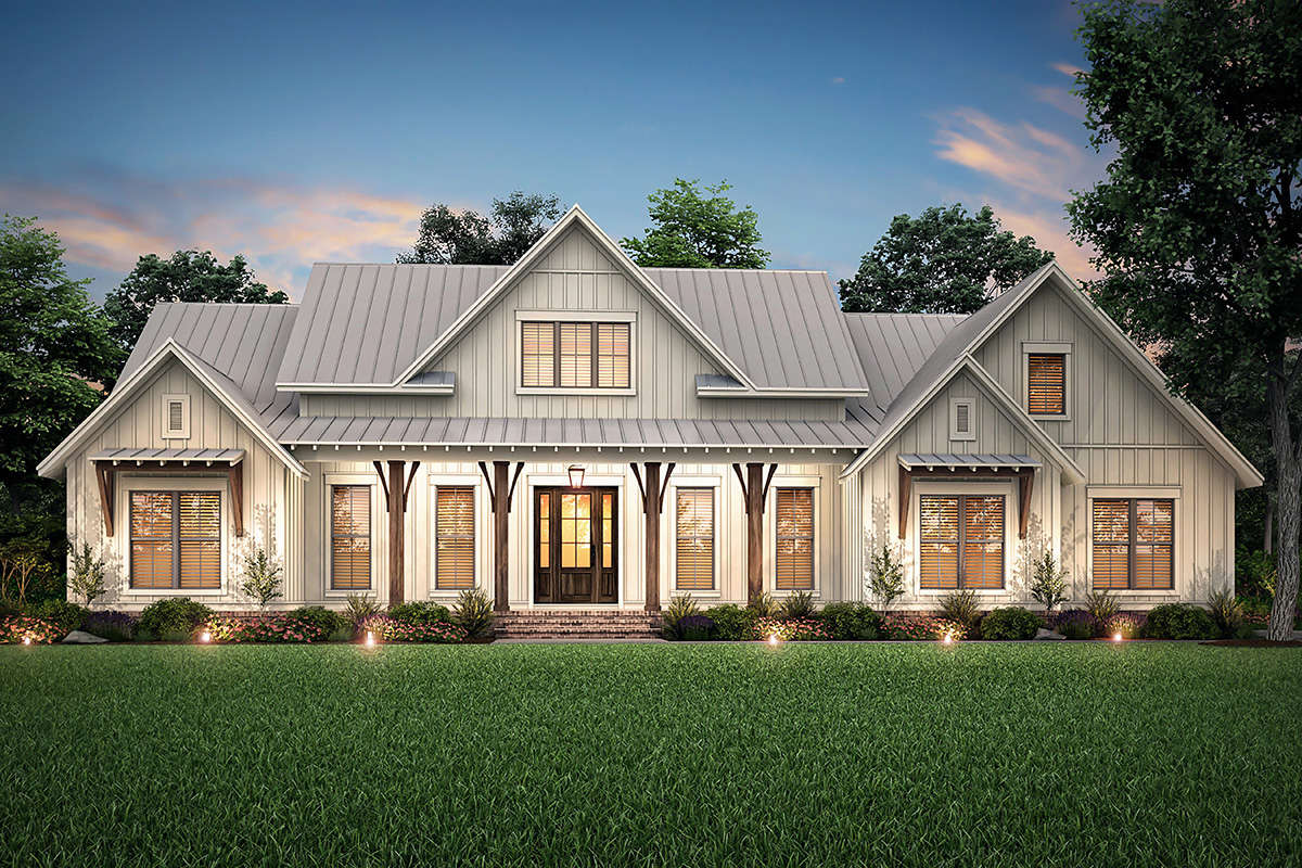 Modern Farmhouse Plan: 2,553 Square Feet, 3 Bedrooms, 2.5 ...