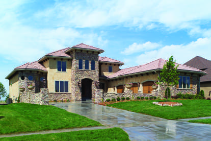 4 Bed, 3 Bath, 5410 Square Foot House Plan - #1020-00364
