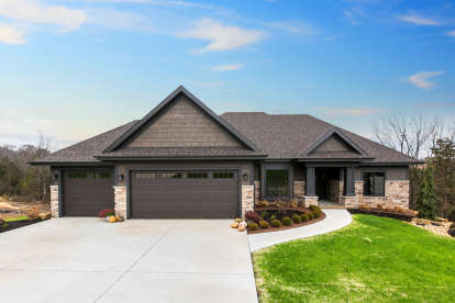 4 Bed, 3 Bath, 3583 Square Foot House Plan - #1020-00365