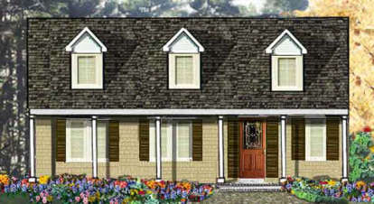 3 Bed, 2 Bath, 1500 Square Foot House Plan - #033-00050