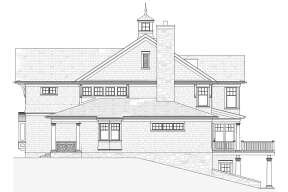Lake Front House Plan #1637-00149 Elevation Photo