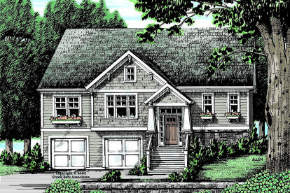3 Bed, 2 Bath, 1320 Square Foot House Plan #8594-00436