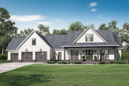 4 Bed, 3 Bath, 2763 Square Foot House Plan #041-00207
