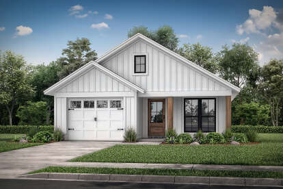 3 Bed, 2 Bath, 1292 Square Foot House Plan #041-00208