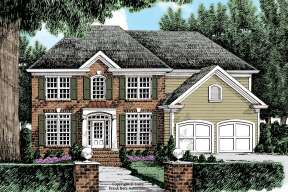Classical House Plan #8594-00437 Elevation Photo
