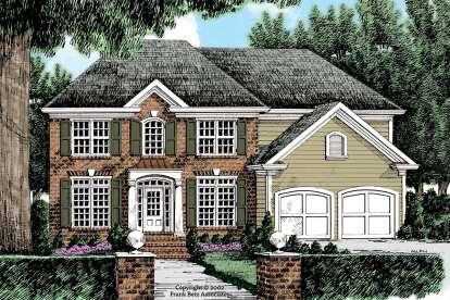 5 Bed, 3 Bath, 2607 Square Foot House Plan #8594-00437