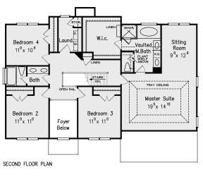 Second Floor for House Plan #8594-00437