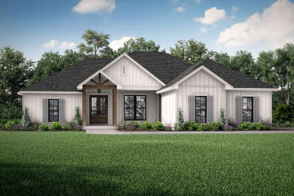 4 Bed, 2 Bath, 1850 Square Foot House Plan - #041-00209