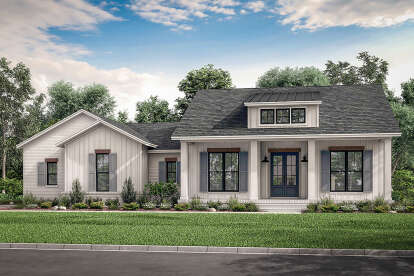 3 Bed, 2 Bath, 2044 Square Foot House Plan #041-00210