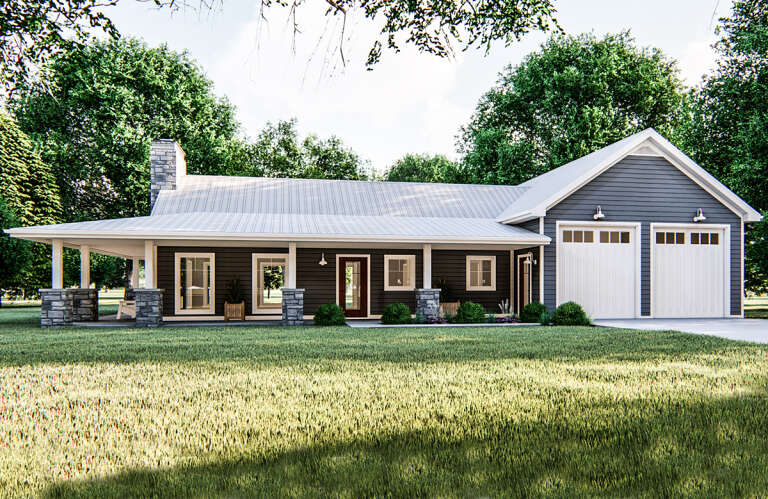 Farmhouse House Plan #963-00386 Elevation Photo