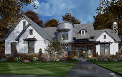 3 Bed, 3 Bath, 2425 Square Foot House Plan #9401-00107