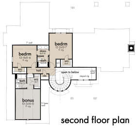 Second Floor for House Plan #9401-00107