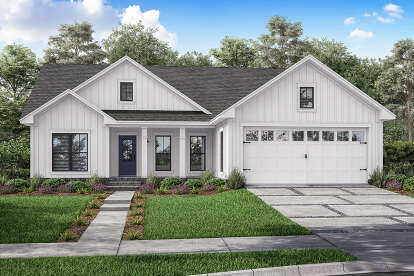 3 Bed, 2 Bath, 1416 Square Foot House Plan #041-00211