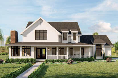 4 Bed, 3 Bath, 2784 Square Foot House Plan - #963-00390
