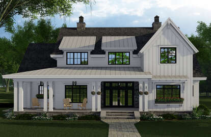 4 Bed, 4 Bath, 2913 Square Foot House Plan #098-00320