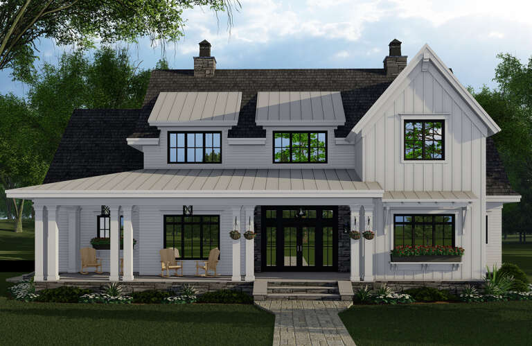 Modern Farmhouse House Plan #098-00320 Elevation Photo